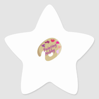 Afición de la pintura calcomanía forma de estrella