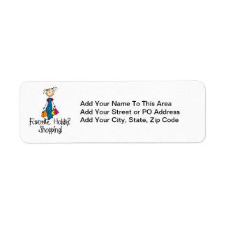 Afición del favorito de las compras etiqueta de remite