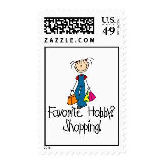 Afición del favorito de las compras timbre postal