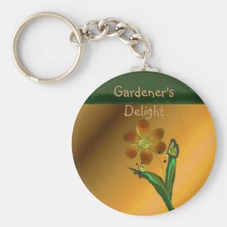 Aficionado a la jardinería llavero redondo tipo pin