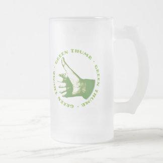 Aficionado a la jardinería taza de cristal