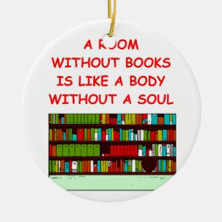 aficionado a los libros adorno de navidad