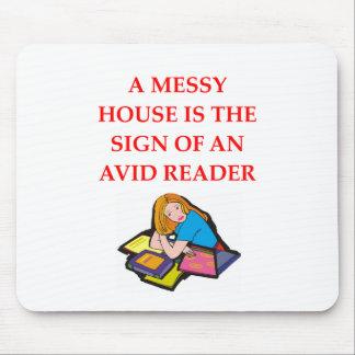 aficionado a los libros alfombrillas de ratón