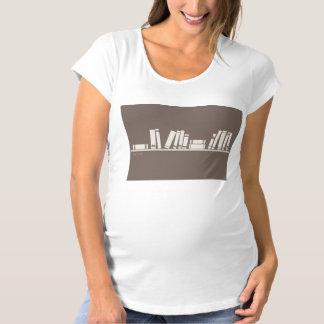 ¡aficionado a los libros! Camiseta de maternidad
