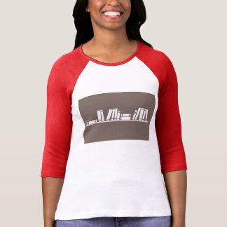 ¡aficionado a los libros! camiseta larga de la playera