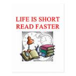 aficionado a los libros de la lectura tarjetas postales