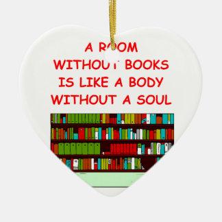 aficionado a los libros adorno