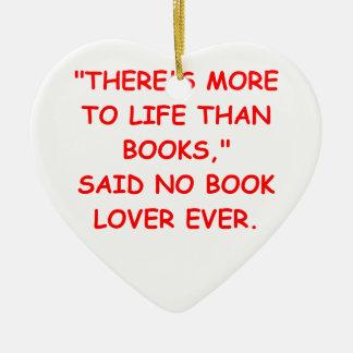 aficionado a los libros adornos de navidad