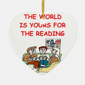 aficionado a los libros ornaments para arbol de navidad