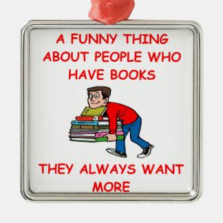 aficionado a los libros ornamento para arbol de navidad