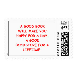 aficionado a los libros estampilla