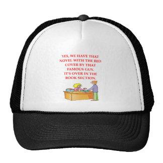 aficionado a los libros gorra