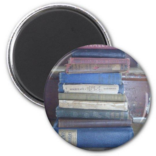 aficionado a los libros imán redondo 5 cm