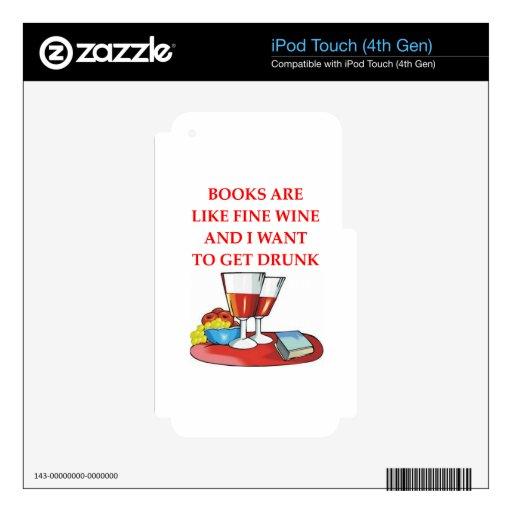 aficionado a los libros iPod touch 4G skins