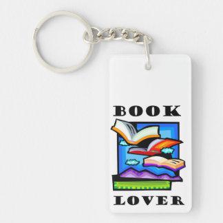 """""""Aficionado a los libros"""" - libros y páginas de Llaveros"""