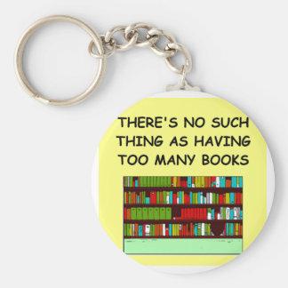 aficionado a los libros llavero personalizado