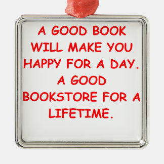 aficionado a los libros ornamentos de navidad