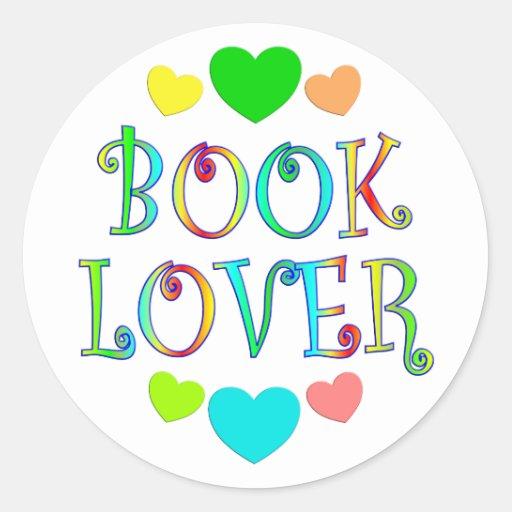 Aficionado a los libros pegatina redonda