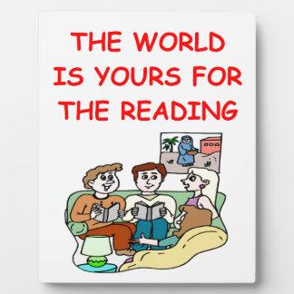 aficionado a los libros placas para mostrar