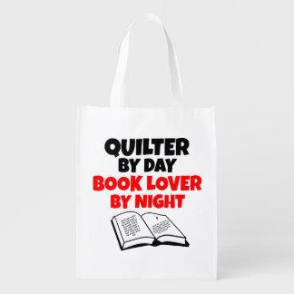 Aficionado a los libros Quilter Bolsa Reutilizable