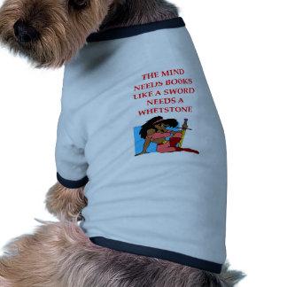 aficionado a los libros camisa de perro