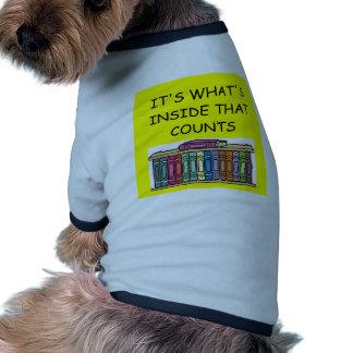 Aficionado a los libros camisetas de perrito