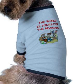 aficionado a los libros camiseta de mascota