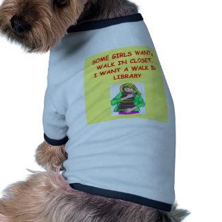 aficionado a los libros ropa de mascota