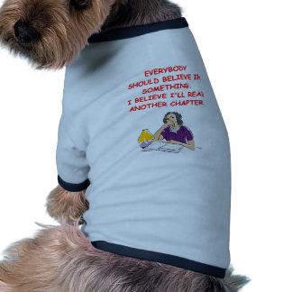aficionado a los libros camisetas mascota