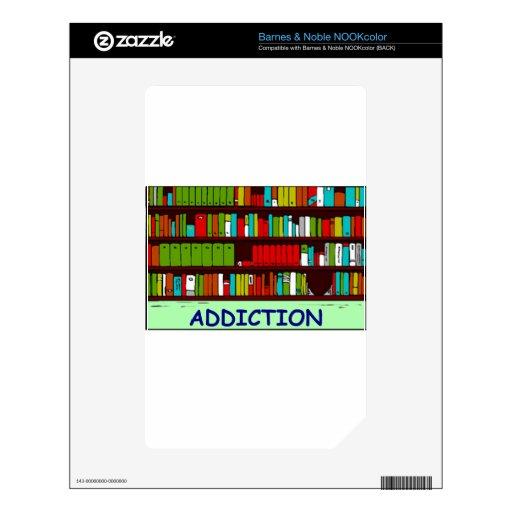 aficionado a los libros skin para el NOOK color