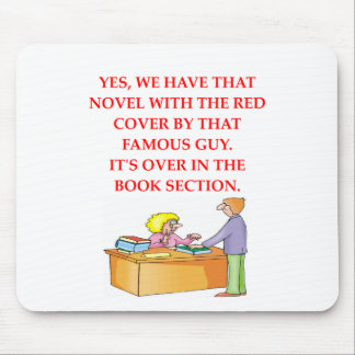 aficionado a los libros tapete de ratón