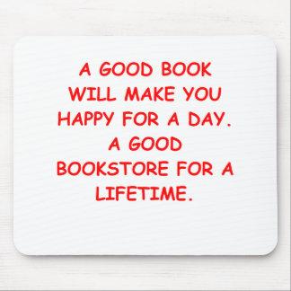 aficionado a los libros tapetes de ratón