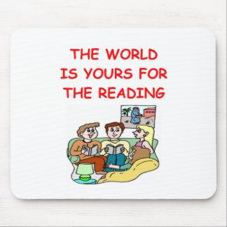 aficionado a los libros alfombrilla de raton