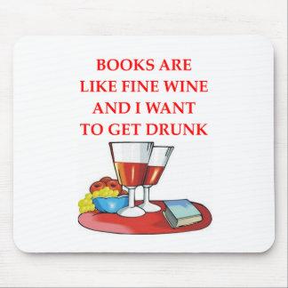 aficionado a los libros tapetes de raton