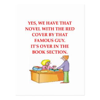 aficionado a los libros postal