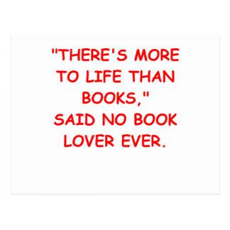aficionado a los libros postales