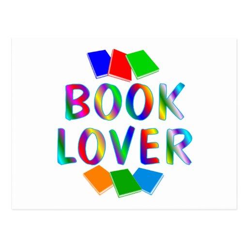 Aficionado a los libros tarjetas postales