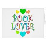 Aficionado a los libros tarjetón