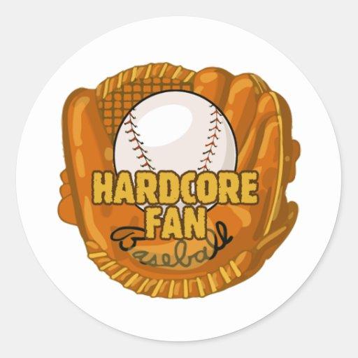 Aficionado al béisbol incondicional etiquetas redondas