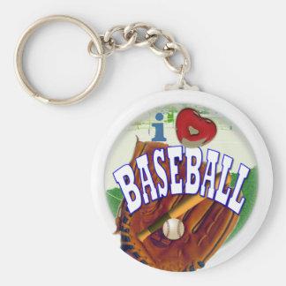 Aficionado al béisbol llavero redondo tipo pin