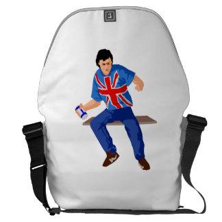 Aficionado al fútbol británico bolsas de mensajeria