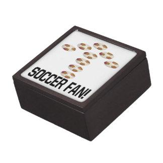 Aficionado al fútbol caja de recuerdo de calidad