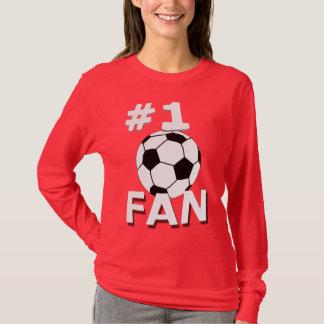 Aficionado al fútbol del número 1 playera