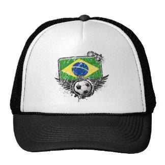 Aficionado al fútbol el Brasil Gorros