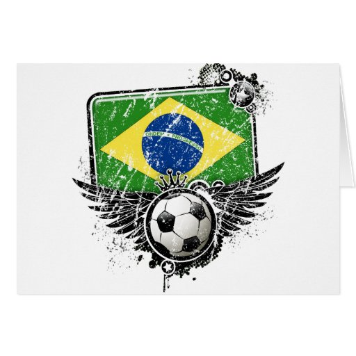 Aficionado al fútbol el Brasil Tarjeta De Felicitación
