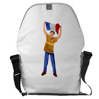 Aficionado al fútbol francés bolsa de mensajeria