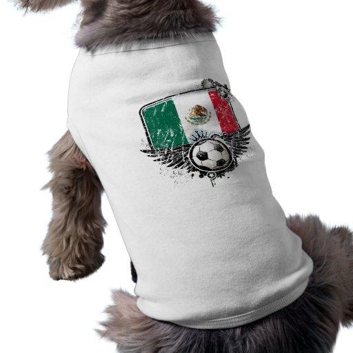 Aficionado al fútbol México Camiseta De Perro