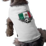 Aficionado al fútbol México Playera Sin Mangas Para Perro