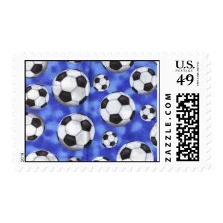 Aficionado al fútbol sello postal