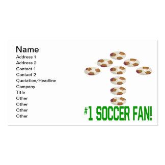Aficionado al fútbol tarjetas de visita
